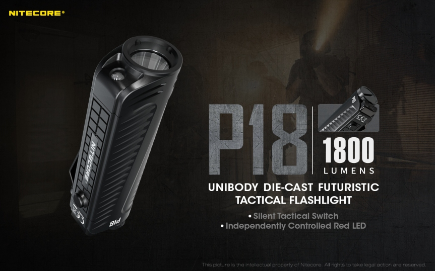 Nitecore's new Die-Cast 18650 Tactical Flashlight has been released