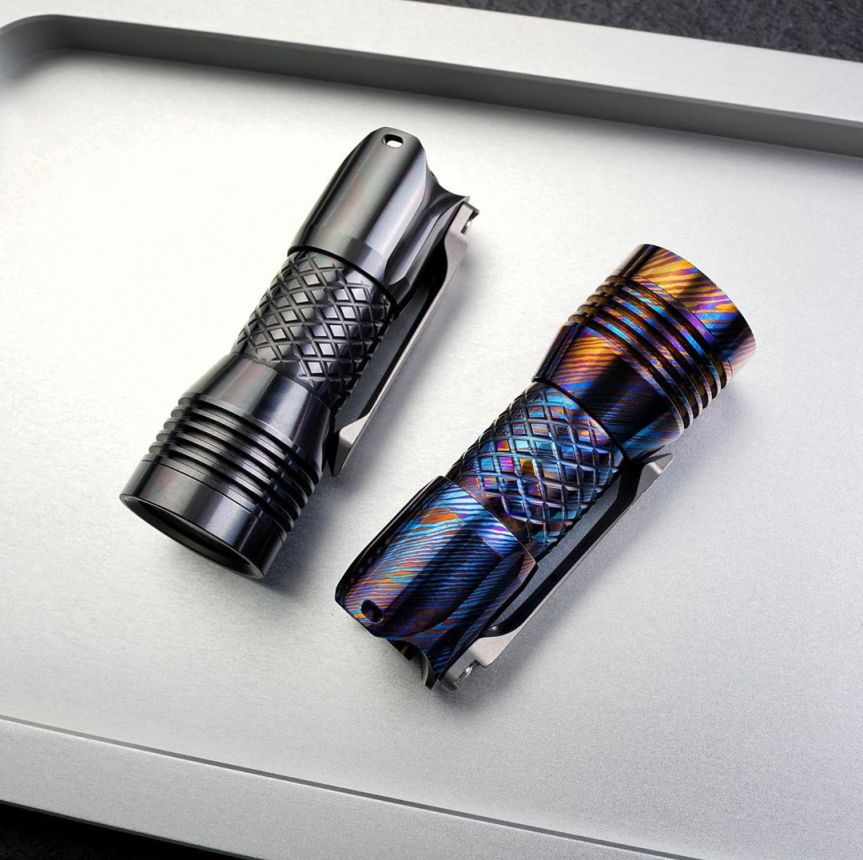 MecArmy Auctions Timascus and Zirconium PS16 EDC Flashlight