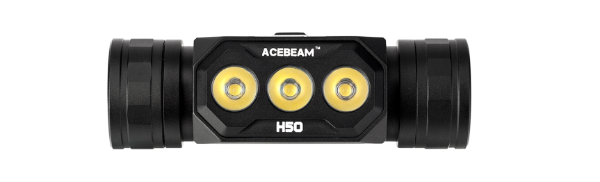 Acebeam releases triple emitter 18650 headlamp, the H50