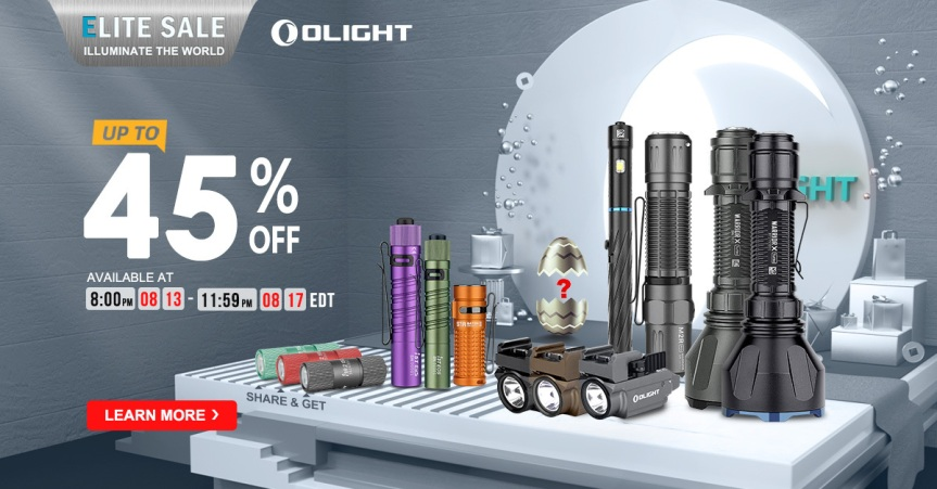 Olight's Annual Elite Day Sale 2020 Details
